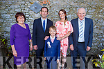 Cillian Thomas Griffin from CBS NS receiving his First Holy Communion in St Johns Church on Saturday. L to r: Kay and John Griffin, Vicky Wilson and John Griffin