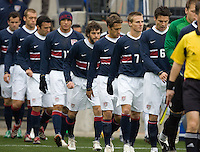 Team USA takes the field against Guatemala at Pizza Hut Park, in Frisco, Texas, Sunday, Feb. 19, 2006. The USA won 4-0.