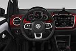 Car pictures of steering wheel view of a 2018 Volkswagen UP GTi 3 Door Hatchback