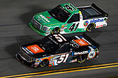 NASCAR Camping World Truck Series<br /> NextEra Energy Resources 250<br /> Daytona International Speedway, Daytona Beach, FL USA<br /> Friday 16 February 2018<br /> Spencer Davis, Kyle Busch Motorsports, JBL/SiriusXM Toyota Tundra Ben Rhodes, ThorSport Racing, Alpha Energy Solutions/Ride TV Ford F-150<br /> World Copyright: Matthew T. Thacker<br /> LAT Images