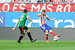 Atletico de Madrid´s Guilherme Siqueira and Athletic Club´s Unai Bustinza during 2014-15 La Liga match between Atletico de Madrid and Athletic Club at Vicente Calderon stadium in Madrid, Spain. May 02, 2015. (ALTERPHOTOS/Luis Fernandez)
