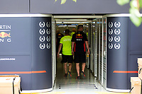 13th March 2020; Melbourne Grand Prix Circuit, Melbourne, Victoria, Australia; Formula One, Australian Grand Prix, Practice Day; Red Bull prepare to pack up their garage