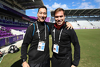 Orlando, Florida - Monday January 15, 2018: Geoff Gamble and Daniel Radford. Match Day 2 of the 2018 adidas MLS Player Combine was held Orlando City Stadium.