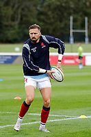 Charlie Ingall of London Scottish during the Championship Cup match between London Scottish Football Club and Nottingham Rugby at Richmond Athletic Ground, Richmond, United Kingdom on 28 September 2019. Photo by Carlton Myrie / PRiME Media Images