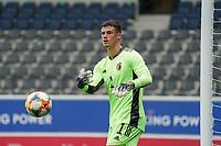 Belgian goalkeeper Mile Svilar (1) throws the ball during a soccer game between the national teams Under21 Youth teams of Belgium and Germany on the 5th matday in group 9 for the qualification for the Under 21 EURO 2021 , on tuesday 8 th of September 2020  in Leuven , Belgium . PHOTO SPORTPIX.BE   SPP   SEVIL OKTEM
