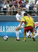Heath Pearce follows the ball. USA defeated Grenada 4-0 during the First Round of the 2009 CONCACAF Gold Cup at Qwest Field in Seattle, Washington on July 4, 2009.