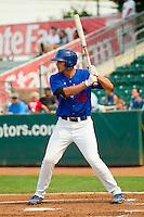 Corey Seager (46) of the Ogden Raptors at bat against the Orem Owlz at Lindquist Field on July 29, 2012 in Ogden, Utah.  The Owlz defeated the Raptors 6-4.   (Brian Westerholt/Four Seam Images)