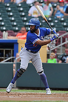 Oklahoma City Dodgers center fielder Henry Ramos (17) in action against the Omaha Storm Chasers at Werner Park on June 24, 2018 in Omaha, Nebraska. Omaha won 8-0.  (Dennis Hubbard/Four Seam Images)