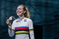 Anna van der Breggen (NED/Boels-Dolmans) wins the WOMEN ELITE ROAD RACE and is the new World Champion<br /> <br /> Kufstein to Innsbruck: 156.2 km<br /> <br /> UCI 2018 Road World Championships<br /> Innsbruck - Tirol / Austria