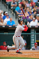 Syracuse Chiefs first baseman Neftali Soto bats during a game against the Buffalo Bisons on July 3, 2017 at Coca-Cola Field in Buffalo, New York.  Buffalo defeated Syracuse 6-2.  (Mike Janes/Four Seam Images)