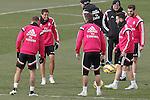 Real Madrid's Jese Rodriguez, James Rodriguez, Sergio Ramos, Daniel Carvajal and Nacho Fernandez during training session.January 30,2015.(ALTERPHOTOS/Acero)