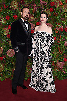 Evgeny Lebedev and Claire Foy<br /> arriving for the 2018 Evening Standard Theatre Awards at the Theatre Royal Drury Lane, London<br /> <br /> ©Ash Knotek  D3460  18/11/2018