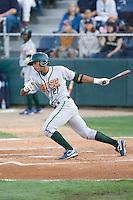August 6, 2010: Boise Hawks' Jesus Morelli (#21) at-bat during a Northwest League game against the Everett AquaSox at Everett Memorial Stadium in Everett, Washington.