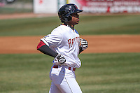 Wisconsin Timber Rattlers outfielder Monte Harrison (3) during a game against the Cedar Rapids Kernels on April 23rd, 2015 at Fox Cities Stadium in Appleton, Wisconsin.  Cedar Rapids defeated Wisconsin 3-0.  (Brad Krause/Four Seam Images)