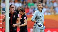 Hope Solo during the FIFA Women's World Cup at the FIFA Stadium in Dresden, Germany on July 10th, 2011.