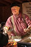 Christkindl Market- German Festival.Market Street- 12/09/06.knockwurst vendor