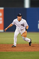 Tampa Yankees second baseman Nick Solak (39) during a game against the Fort Myers Miracle on April 12, 2017 at George M. Steinbrenner Field in Tampa, Florida.  Tampa defeated Fort Myers 3-2.  (Mike Janes/Four Seam Images)