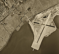 historical aerial photograph of San Francisco International airport (SFO), 1946