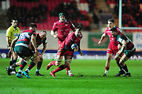 David Bulbring of Scarlets in action during the Heineken Champions Cup round 5 match between the Scarlets and Leicester Tigers at the Parc Y Scarlets Stadium in Llanelli, Wales, UK. Saturday 12th January 2019