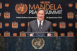 Opening Plenary Meeting of the Nelson Mandela Peace Summit<br /> <br /> His Excellency Juan Carlos VARELA RODRIGUEZPresidents of the Republic of Panama