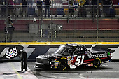 NASCAR Camping World Truck Series<br /> North Carolina Education Lottery 200<br /> Charlotte Motor Speedway, Concord, NC USA<br /> Friday 19 May 2017<br /> Kyle Busch, Cessna Toyota Tundra celebrates his win with a burnout<br /> World Copyright: Nigel Kinrade<br /> LAT Images<br /> ref: Digital Image 17CLT1nk05358