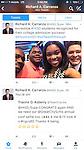 HISD Superintendent Richard Carranza tweets about Booker T. Washington students Matthew Blue and Valencia Grayson