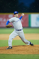 Bluefield Blue Jays relief pitcher Grayson Huffman (19) in action against the Burlington Royals at Burlington Athletic Park on July 1, 2015 in Burlington, North Carolina.  The Royals defeated the Blue Jays 5-4. (Brian Westerholt/Four Seam Images)