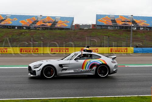 14th November 2020; Istanbul Park, Istanbul, Turkey; FIA Formula One World Championship 2020, Grand Prix of Turkey, qualifying; F1 Safety Car, Mercedes-AMG GT R  on a very wet track