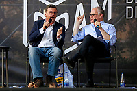The candidates mayor of Rome at the next elections, Carlo Calenda and Roberto Gualtieri arguing during a confrontation at the Acquario Romano, during the 'Festival del'Architettura'.<br /> Rome (Italy), July 29th 2021<br /> Photo Samantha Zucchi Insidefoto
