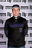 Garrett Glasscock (10) of Canyon High School in New Braunfels, Texas during the Baseball Factory All-America Pre-Season Tournament, powered by Under Armour, on January 12, 2018 at Sloan Park Complex in Mesa, Arizona.  (Mike Janes/Four Seam Images)