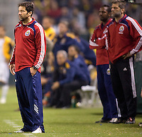 Chivas USA headcoach Preki. The LA Galaxy defeated Chivas USA 1-0 and win the playoff series during a MLS Western Conference playoff game at Home Depot Center stadium in Carson, California on Sunday November 1, 2009...