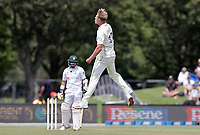 Kyle Jamieson of New Zealand celebrates during day one of the second International Test Cricket match between the New Zealand Black Caps and Pakistan at Hagley Oval in Christchurch, New Zealand on Sunday, 3 January 2021. Photo: Martin Hunter / lintottphoto.co.nz