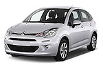 2014 Citroen C3 Seduction 5 Door Hatchback 2WD Angular Front stock photos of front three quarter view
