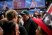 Boston, Mass..USA.July 27, 2004..Thee National Democratic Convention in Boston. Michael Moore, film maker, on the convention floor.