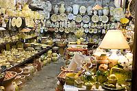Merce in vendita in un negozio di Cortona.<br /> Wares for sale in Cortona.<br /> UPDATE IMAGES PRESS/Riccardo De Luca