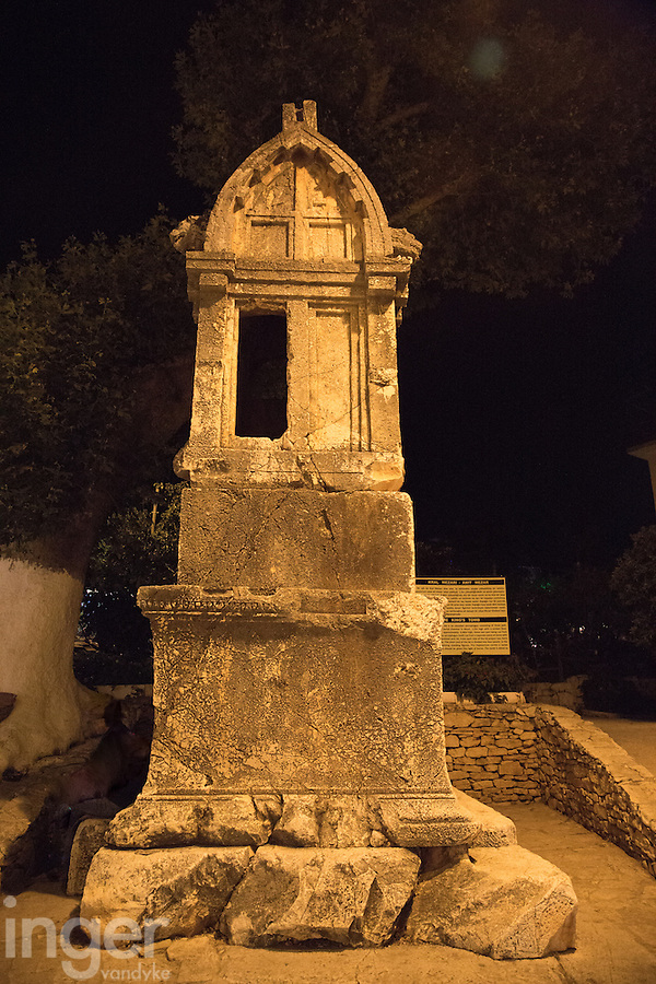 The Lion's Tomb in Kas Old Town, Turkey