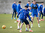 St Johnstone Training…….24.01.20<br />Matty Kennedy and Jason Kerr pictured training this morning at McDiarmid Park ahead of tomorrow's game against Kilmarnock.<br />Picture by Graeme Hart.<br />Copyright Perthshire Picture Agency<br />Tel: 01738 623350  Mobile: 07990 594431