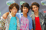 The Jonas Brothers (L-R) Nicholas Jonas, Joseph Jonas and Kevin Jonas attend the USTA Arthur Ashe Kids' Day to Kick Off the US Open at the Billie Jean King National Tennis Center, Flushing, New York on Saturday, August 25, 2007.