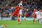 Wales v Serbia FIFA 2014 World Cup Qualifying match - Cardiff - 100913 <br /> Gareth Bale off the bench for Wales in the game as he takes on Matija Bisevac of Serbia at the Cardiff City stadium tonight.