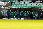 Hibs v St Johnstone…24.11.20   Easter Road      SPFL<br />Saints manager Callum Davidson flanked by assistants Steven MacLean and Alec Cleland<br />Picture by Graeme Hart.<br />Copyright Perthshire Picture Agency<br />Tel: 01738 623350  Mobile: 07990 594431
