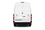 Straight rear view of 2017 Mercedes Benz Sprinter 2500-144-WB-High-Roof 4 Door Cargo Van Rear View  stock images