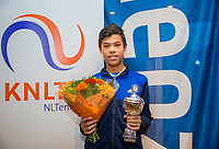 Hilversum, Netherlands, December 3, 2017, Winter Youth Circuit Masters, 12,14,and 16 years,  2 th place boys 14 years Christofer Lam<br /> Photo: Tennisimages/Henk Koster
