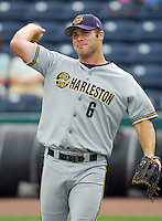 29 May 2007: Mitch Hilligoss of the Charleston RiverDogs, Class A South Atlantic League affiliate of the New York Yankees, in a game against the Greenville Drive at West End Field in Greenville, S.C. Photo by:  Tom Priddy/Four Seam Images