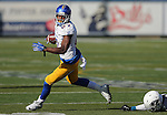 San Jose State's wide receiver Hansell Wilson (87) dodges a tackle from Nevada's Kendall Johnson (26) during the first half of an NCAA college football game in Reno, Nev., on Saturday, Nov. 14, 2015. (AP Photo/Cathleen Allison)