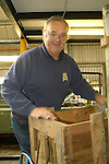 Dunsfold Landrovers Series 1 Parts Weekend 22-24/10/2004, Dunsfold, UK. Barry Simpson doing the background logistics. --- No releases available. --- The garage Dunsfold Landrovers (DLR) was established in 1968 in Dunsfold, Surrey, UK. Due to the ever growing number of Land Rover vehicles the Dunsfold Collection of Land Rovers was launched in 1993. Supported by the company Land Rover and the Gaydon Heritage Centre today Dunsfold is maintaining the biggest and most varied collection of Land Rovers in the world. Because of the enormous quantity of original spare parts for older Land Rovers that are now stored in Dunsfold, every now and then a theme-event is held.