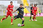 v.li.: Leon Dajaku (Bayern München, FCB, 7) Mohamed Morabet (Kaiserslautern, 27) am Ball beim Spiel in der 3. Liga, FC Bayern München II -1. FC Kaiserslautern.<br /> <br /> Foto © PIX-Sportfotos *** Foto ist honorarpflichtig! *** Auf Anfrage in hoeherer Qualitaet/Aufloesung. Belegexemplar erbeten. Veroeffentlichung ausschliesslich fuer journalistisch-publizistische Zwecke. For editorial use only. DFL regulations prohibit any use of photographs as image sequences and/or quasi-video.