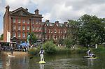 Barnes southwest London Uk.  Barnes village pond annual summer Barnes Fair children