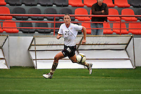 Abby Wambach chases down the ball. The USA defeated Norway 2-1 at Olhao Stadium on February 26, 2010 at the Algarve Cup.