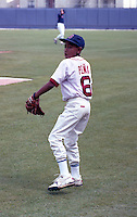 Tony Pena Jr., son of Boston Red Sox catcher Tony Pena, during spring training circa 1992 at Chain of Lakes Park in Winter Haven, Florida.  (MJA/Four Seam Images)