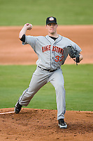 Hagerstown starting pitcher Jeff Mandel (32) in action versus Kannapolis at Fieldcrest Cannon Stadium in Kannapolis, NC, Tuesday, August 14, 2007.